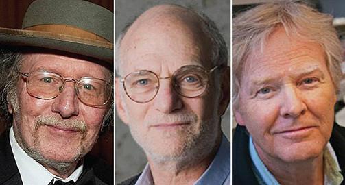 Jeffrey Hall, Michael Rosbash e Michael Young -  Foto: Instituto Karolinska